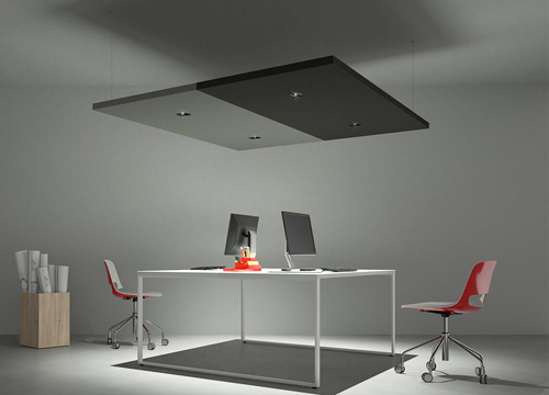Acoustic Panel with Square Spotlight | Woodwood Group