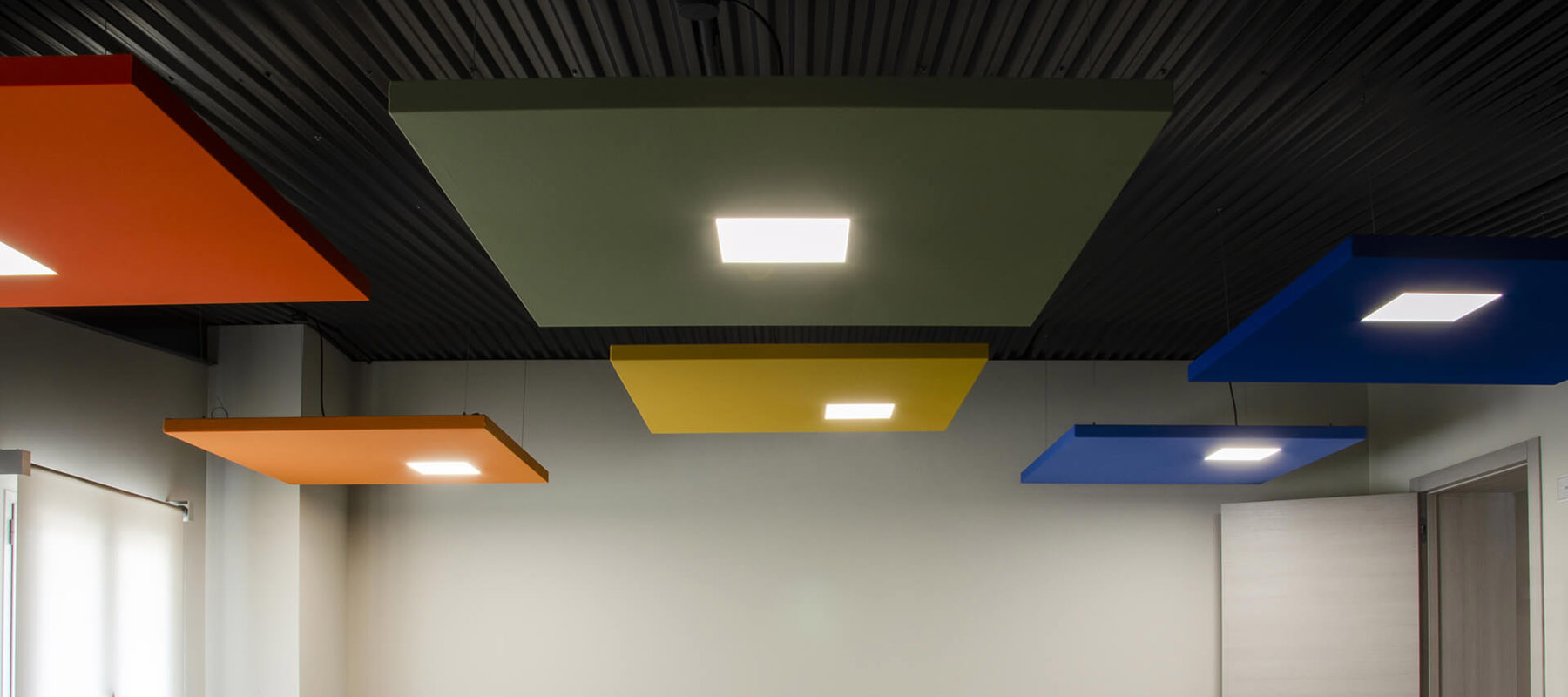 Acoustic LED Ceiling Lights | Woodwood Group