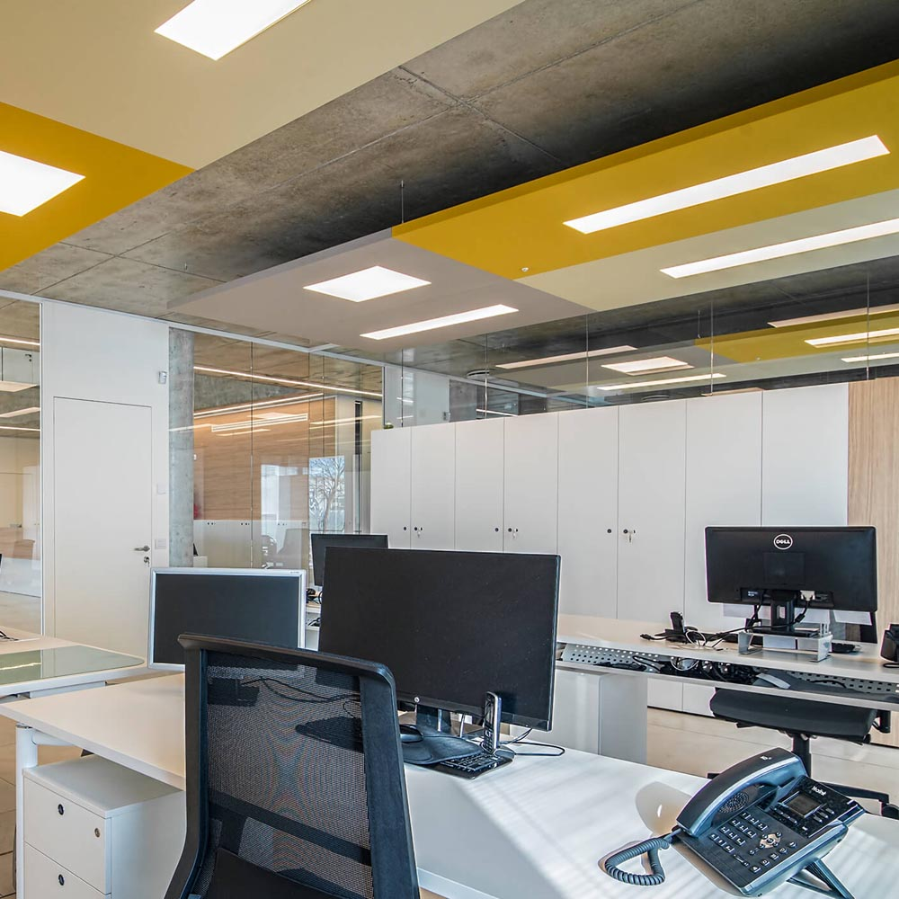 Acoustic LED Ceiling Lights   Woodwood Group