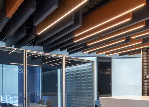 Caruso Flag Acoustic Baffles | Woodwood Group