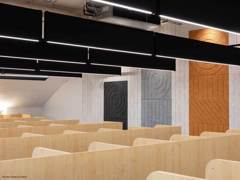 Sound Absorbing Panels at Cardinal Wiseman School | Woodwood Group