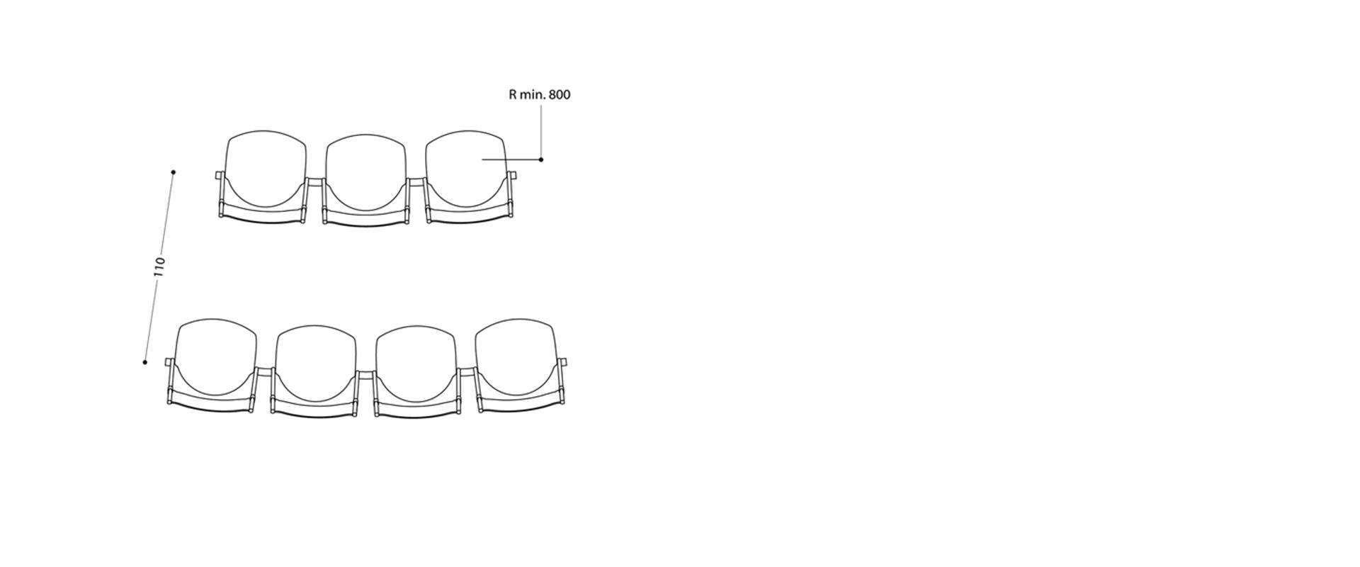 LAMM Conpasso Beam Chair | Woodwood Group