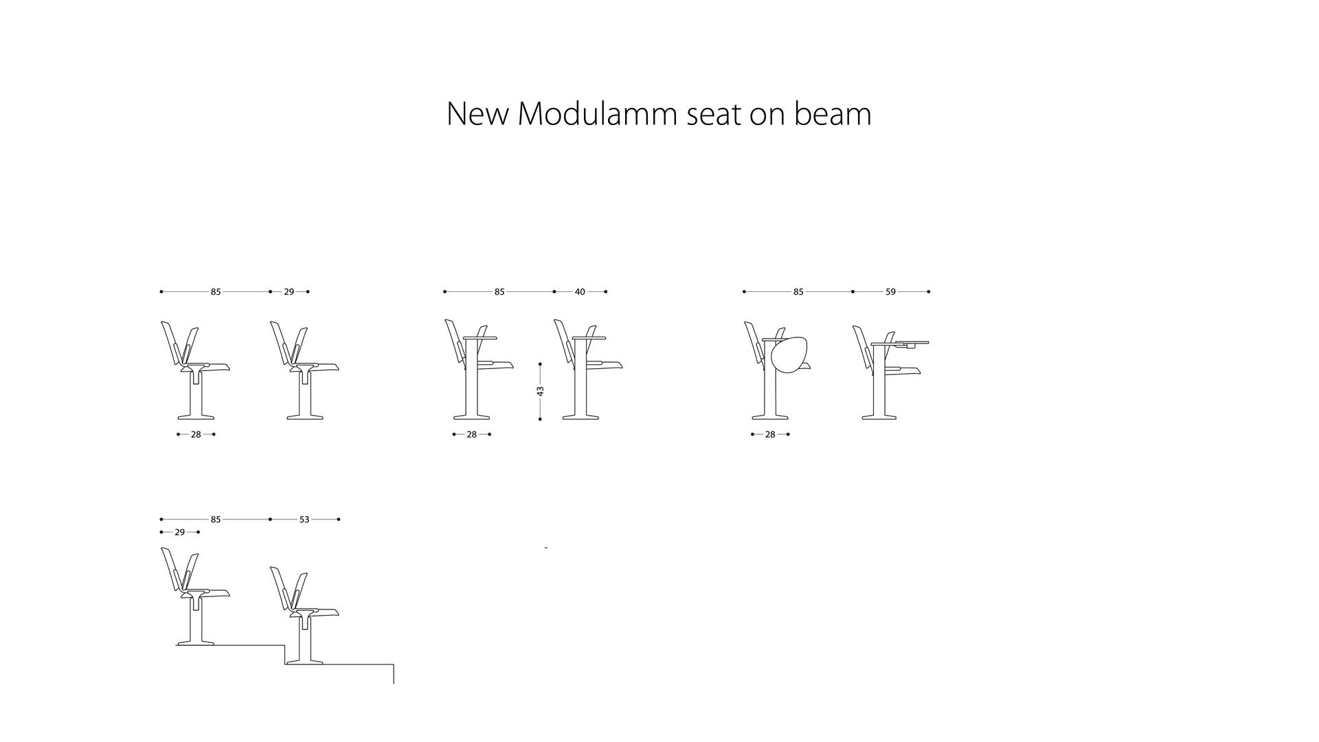 LAMM New Modulamm Beam Chair | Woodwood Group