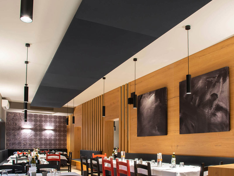 Caruso Nuvola Acoustic Ceiling Rafts | Woodwood Group
